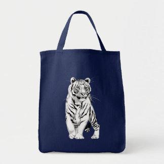 Stately White Tiger Bag