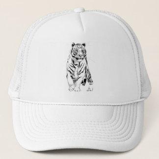 Stately White Tiger Hat