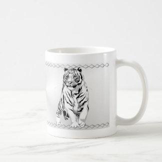 Stately White Tiger Mug