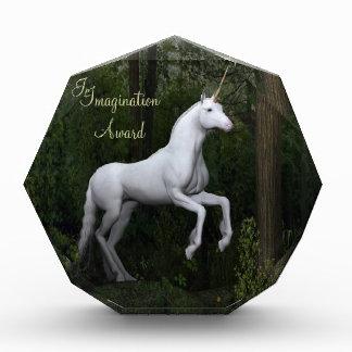 Stately White Unicorn Award