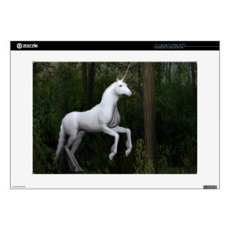 Stately White Unicorn Decals For Laptops