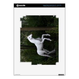 Stately White Unicorn iPad 3 Decal