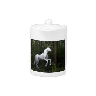 Stately White Unicorn Teapot