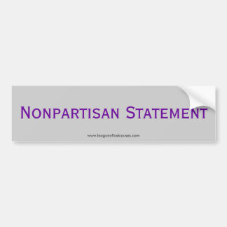 """Statement"" bumper sticker"