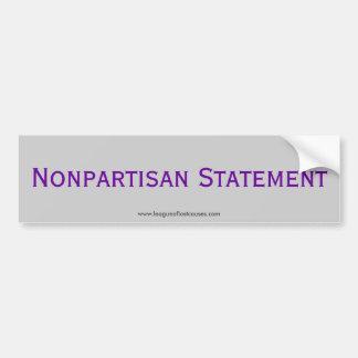 """""""Statement"""" bumper sticker Car Bumper Sticker"""