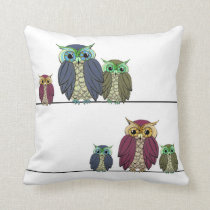Statement Owl Throw Pillow