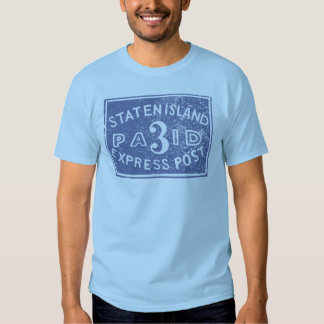 Staten Island 1849 expreso, azul Remera