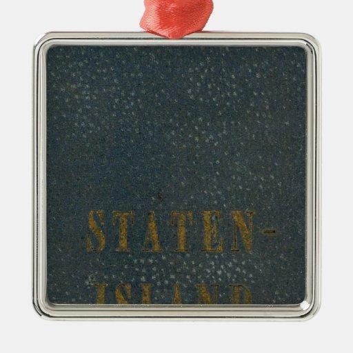 Staten Island Adorno Navideño Cuadrado De Metal