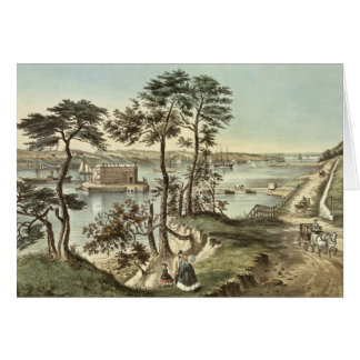 Staten Island and the Narrows from Fort Hamilton Card