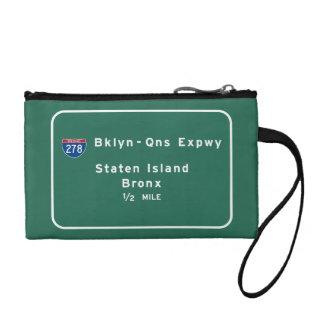 Staten Island Bronx Interstate NYC New York City Coin Purse