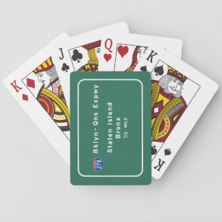 Staten Island Bronx Interstate NYC New York City Playing Cards