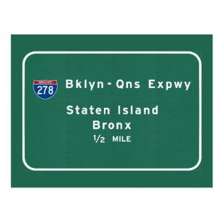 Staten Island Bronx Interstate NYC New York City Postcard