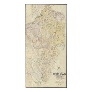 Staten Island compuesto Impresión En Madera