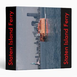 Staten Island Ferry 3 Ring Binder