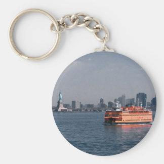 Staten Island Ferry Basic Round Button Keychain