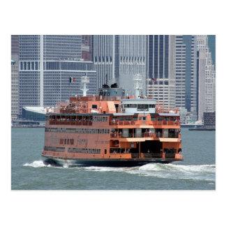 Staten Island Ferry New York Harbor Post Card