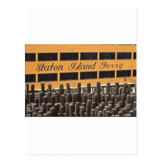 Staten Island Ferry NYC Postcard