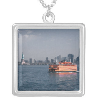 Staten Island Ferry Square Pendant Necklace