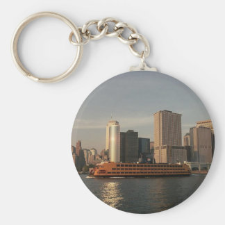 Staten Island Ferry & Twin Towers In Memoriam view Keychain