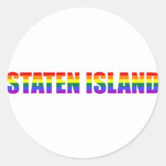 Staten Island gay Pegatina Redonda