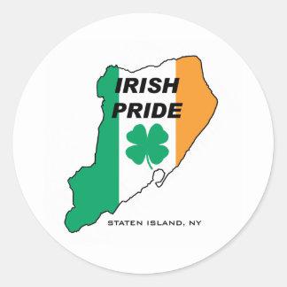 Staten Island Irish Pride Classic Round Sticker