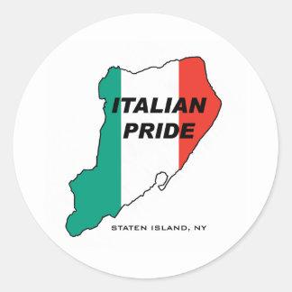 Staten Island Italian Pride Classic Round Sticker