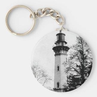 Staten Island Lighthouse Basic Round Button Keychain