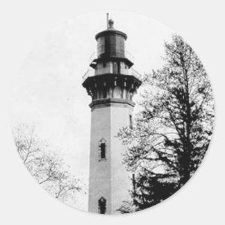 Staten Island Lighthouse Classic Round Sticker