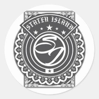 Staten Island Logo Classic Round Sticker