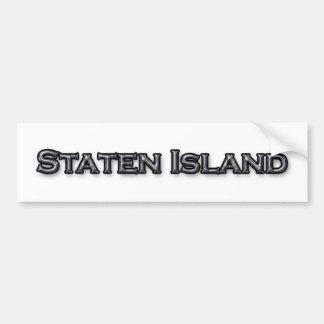 Staten Island NY Text Logo Bumper Sticker