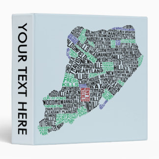 Staten Island NYC Typography Map Binder