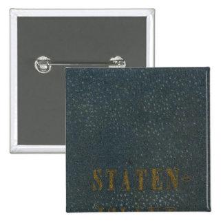Staten Island Pin Cuadrada 5 Cm