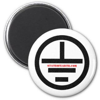 stateofearth.com magnet#1 imán redondo 5 cm