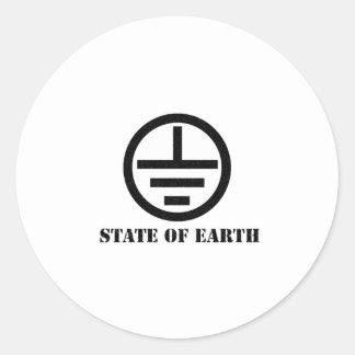 stateofearth.com merch classic round sticker