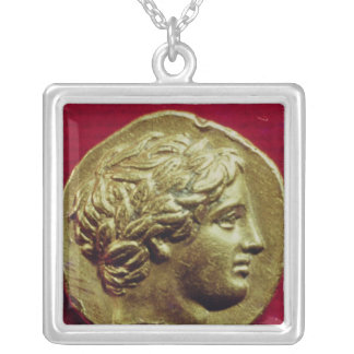 Stater of Philip II  King of Macedonia Silver Plated Necklace