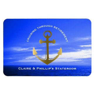 Stateroom Door Marker Anchor Custom Retirement Magnet