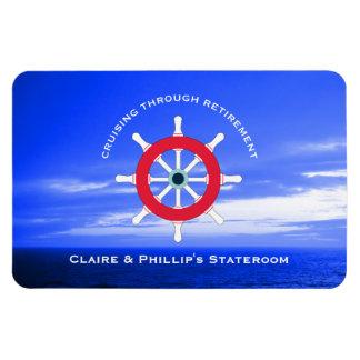 Stateroom Door Marker Personalized Retirement Magnet