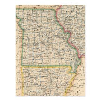 States of Illinois, Missouri, and Arkansas Postcard