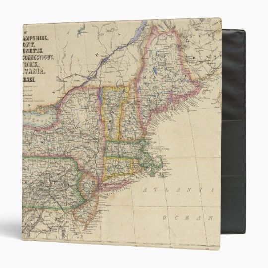 States of Maine, New Hampshire, Vermont 3 Ring Binder