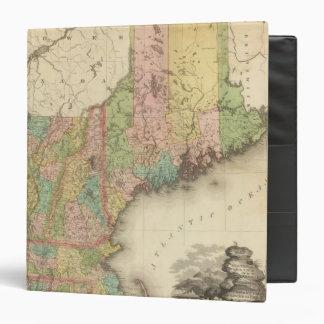 States of Maine, New Hampshire, Vermont Vinyl Binder