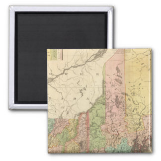 States of Maine, New Hampshire, Vermont 2 Inch Square Magnet