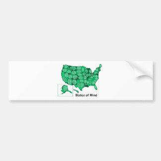 States of Mind Bumper Sticker