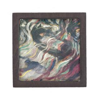 States of Mind: The Farewells by Umberto Boccioni Jewelry Box