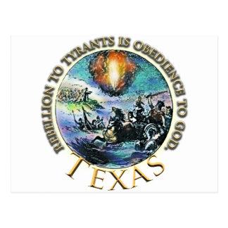 States of Rebellion to Tyrants TEXAS Postcard