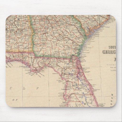States of South Carolina, Georgia, and Alabama Mouse Pad