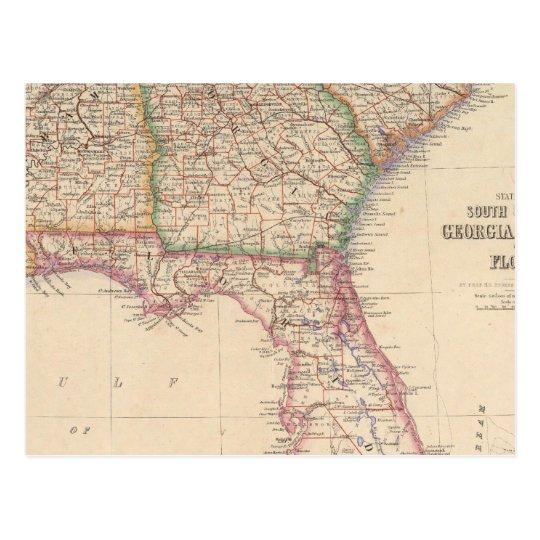 States of South Carolina, Georgia, and Alabama Postcard