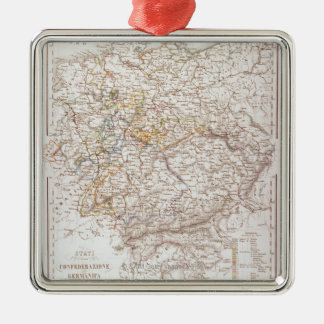States of the German Confederation Metal Ornament