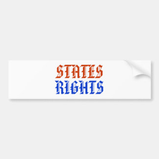 STATES RIGHTS CAR BUMPER STICKER