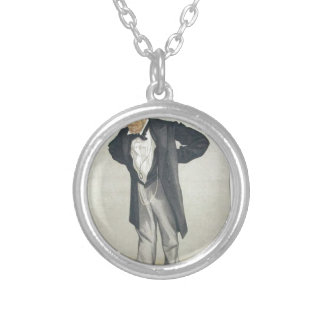 Statesmen No.1230 Caricature of The Rt Hon CP Round Pendant Necklace