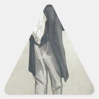 Statesmen No.1230 Caricature of The Rt Hon CP Triangle Sticker
